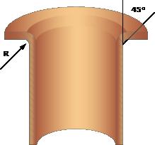 Lagerhus/säte, illustration av flänslager 45° vinkel.